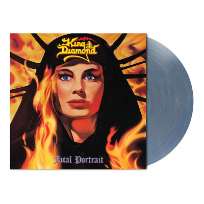 King Diamond - Fatal Portrait | Clear Blue/Red Marbled Vinyl