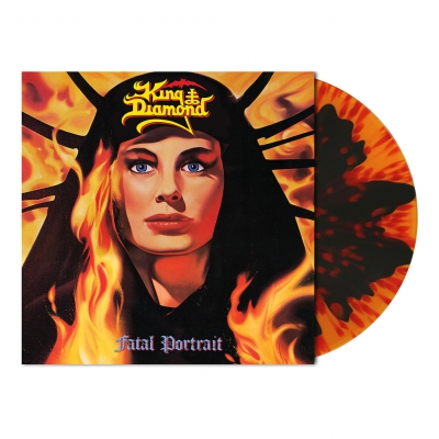 King Diamond - Fatal Portrait | Orange/Black Melt w/Red Splatter