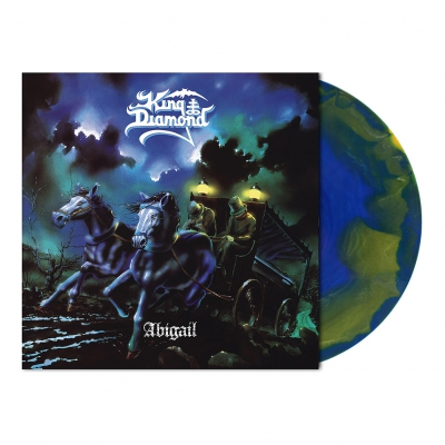 King Diamond - Abigail | Olive Blue Melt Vinyl