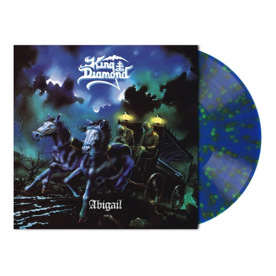 King Diamond - Abigail | Clear Blue w/Green&Orange Splatter Vinyl