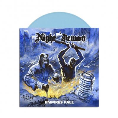 Night Demon - Empires Fall | Light Blue 7 Inch