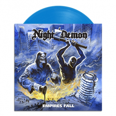 Night Demon - Empires Fall | Opaque Light Blue 7 Inch