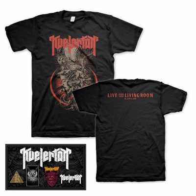 Kvelertak - Live From Your Living Room | T-Shirt+Pin Set Bundle