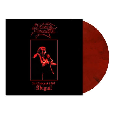 King Diamond - In Concert 1987-Abigail | Wine Red/Black Marbled V