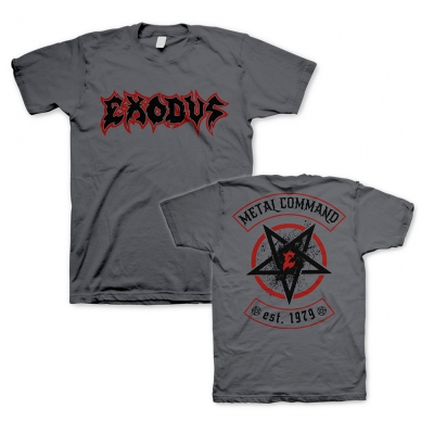 exodus - Metal Command Charcoal | T-Shirt