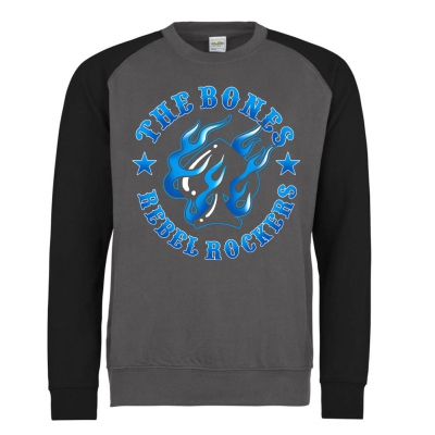 The Bones - Rebel Rockers Blue | Baseball Sweatshirt