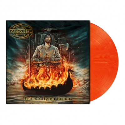 shop - From A Dying Ember | Orange/White Marbled Vinyl