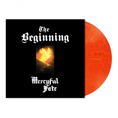 Mercyful Fate - The Beginning | Fluorescent Orange/White Marbled V
