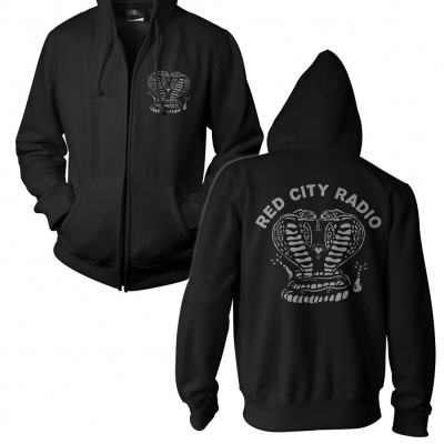 Red City Radio - Cobras Grey | Zip Hood