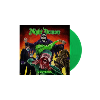Night Demon - Vysteria | Transparent Green 7 Inch