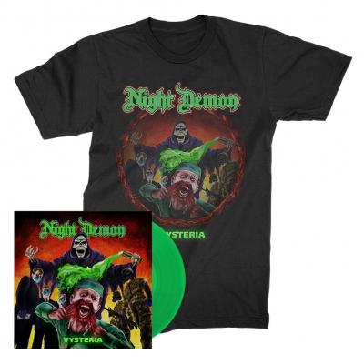 Night Demon - Vysteria | 7 Inch + T-Shirt Bundle
