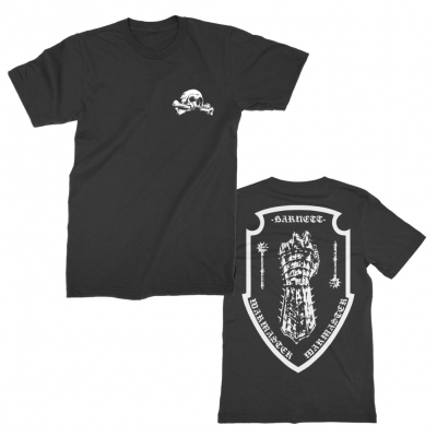 Crossbones Fist Crest Black | T-Shirt