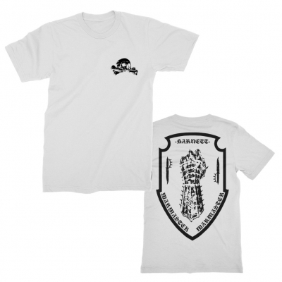 Crossbones Fist Crest White | T-Shirt