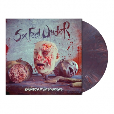 Six Feet Under - Nightmares... | Dark Viole(n)t Marbled Vinyl