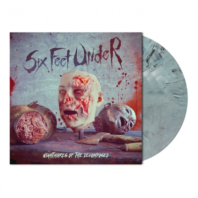 Six Feet Under - Nightmares... | Grey Blue Marbled Vinyl