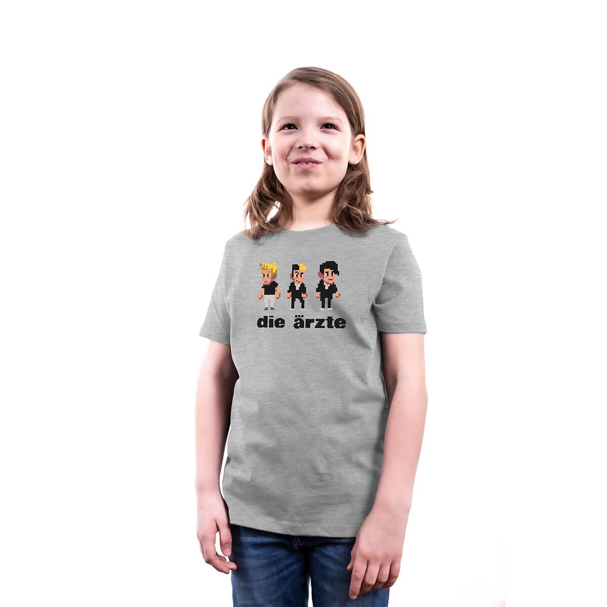 Pixel Heather Grey | Kinder Shirt