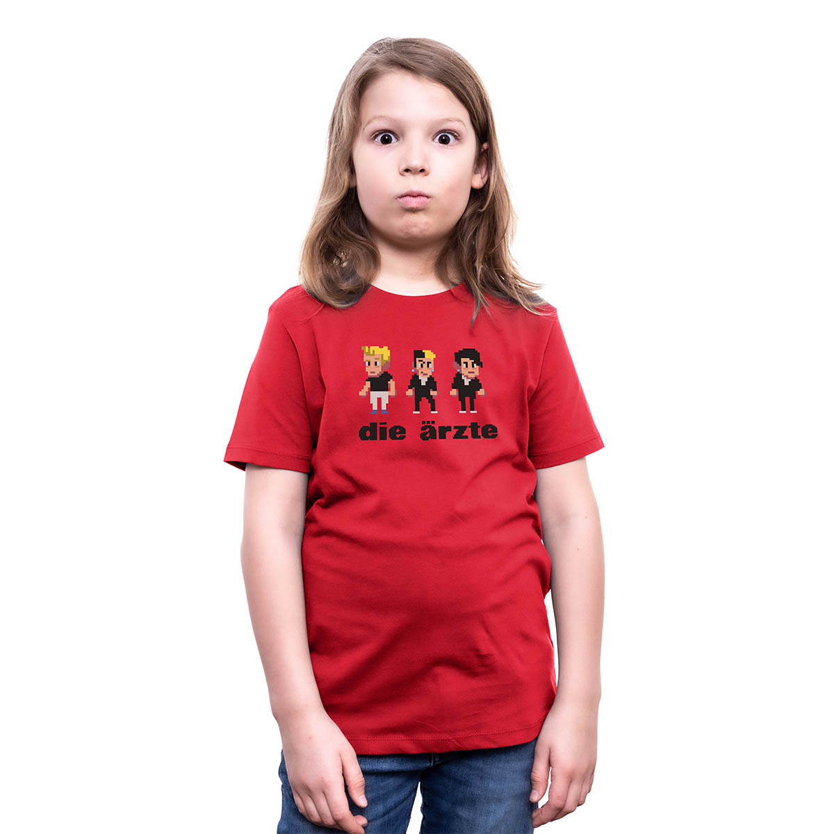 Pixel Rot   Kinder Shirt