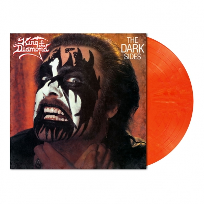 The Dark Sides | Red Orange White Marbled Vinyl