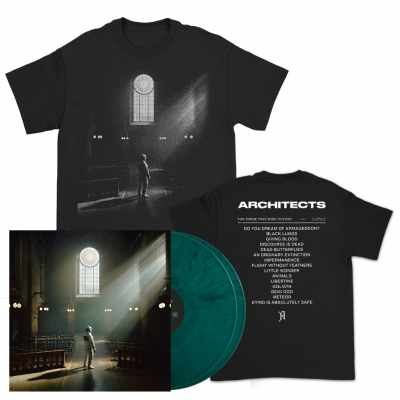 Architects - FTTWTE Cover | 2xGreen Vinyl+T-Shirt Bundle