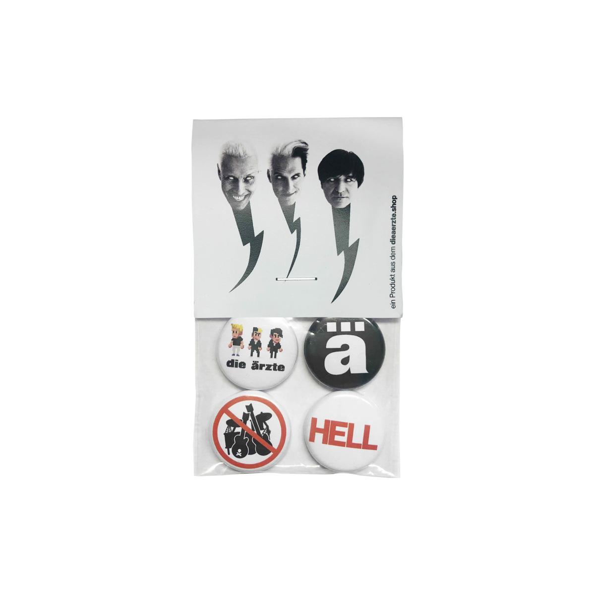 Hell   Button-4er-Set