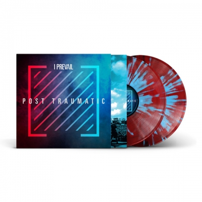 Post Traumatic | 2xMaroon/Aqua Blue Splatter