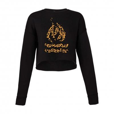Leopard Logo | Crop Sweatshirt