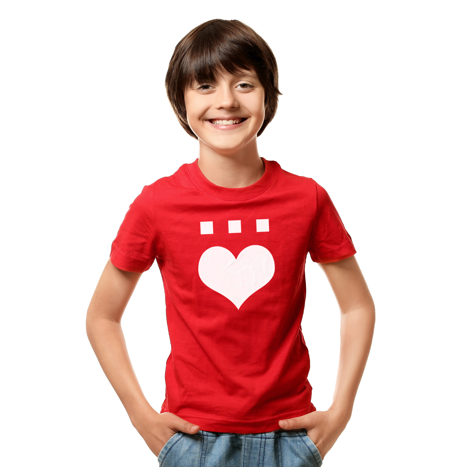 Härz Rot   Kinder Shirt