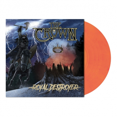 Royal Destroyer | Red-Hot Orange Marbled Vinyl