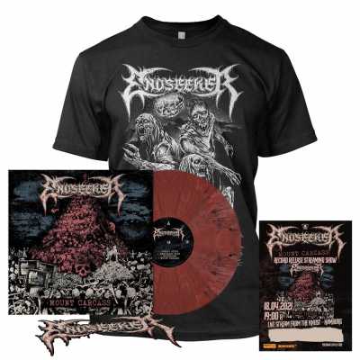Mount Carcass | Brick Red Marbled Vinyl+Ticket+T-Shirt