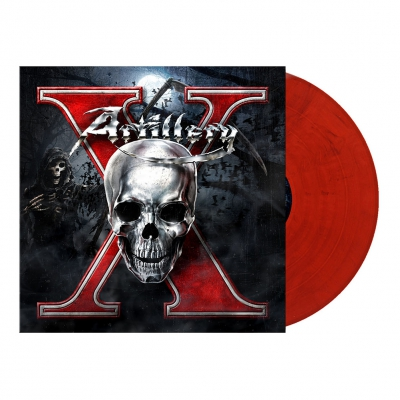 X | Blood Red/Blue Marbled Vinyl