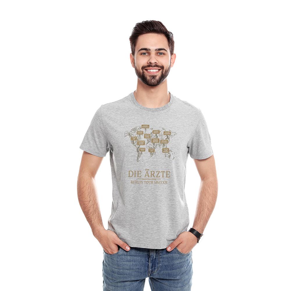 Weltkarte - Berlin Tour-Shirt 2022   T-Shirt