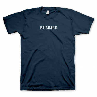 BUMMER NAVY | EMBROIDERED T-SHIRT