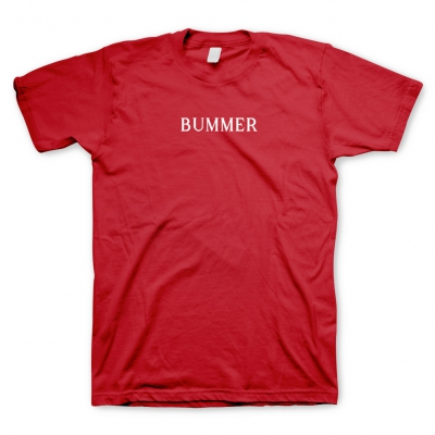 BUMMER RED | EMBROIDERED T-SHIRT
