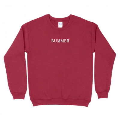 BUMMER CHERRY | EMBROIDERED CREWNECK