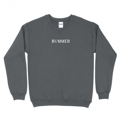 BUMMER CHARCOAL | EMBROIDERED CREWNECK