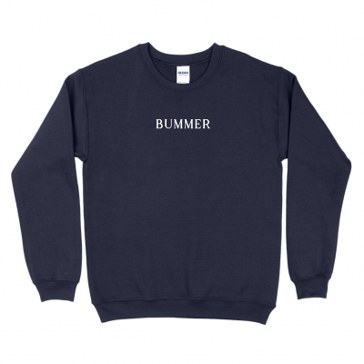 BUMMER NAVY | EMBROIDERED CREWNECK