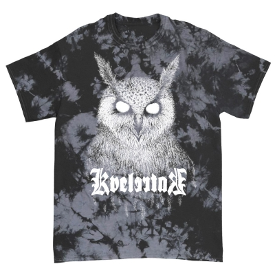 Barlett Owl Black Grey Acid Wash Dye | T-Shirt
