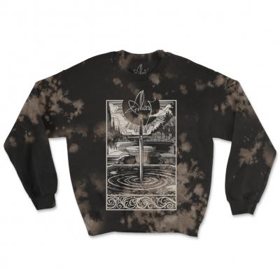 Spiritual Logo Bleach Dye | Sweatshirt