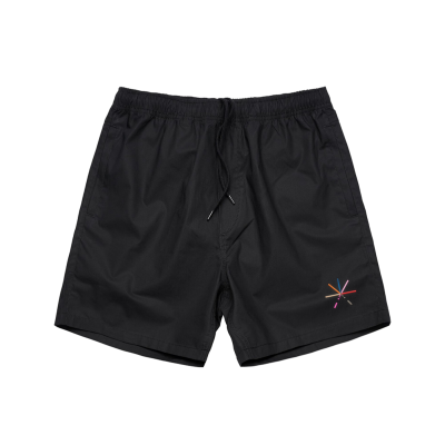 7 Color Asterisk | Embroidered Shorts