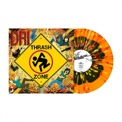 Thrash Zone | Orange w/Dark Olive Blob & Red/White