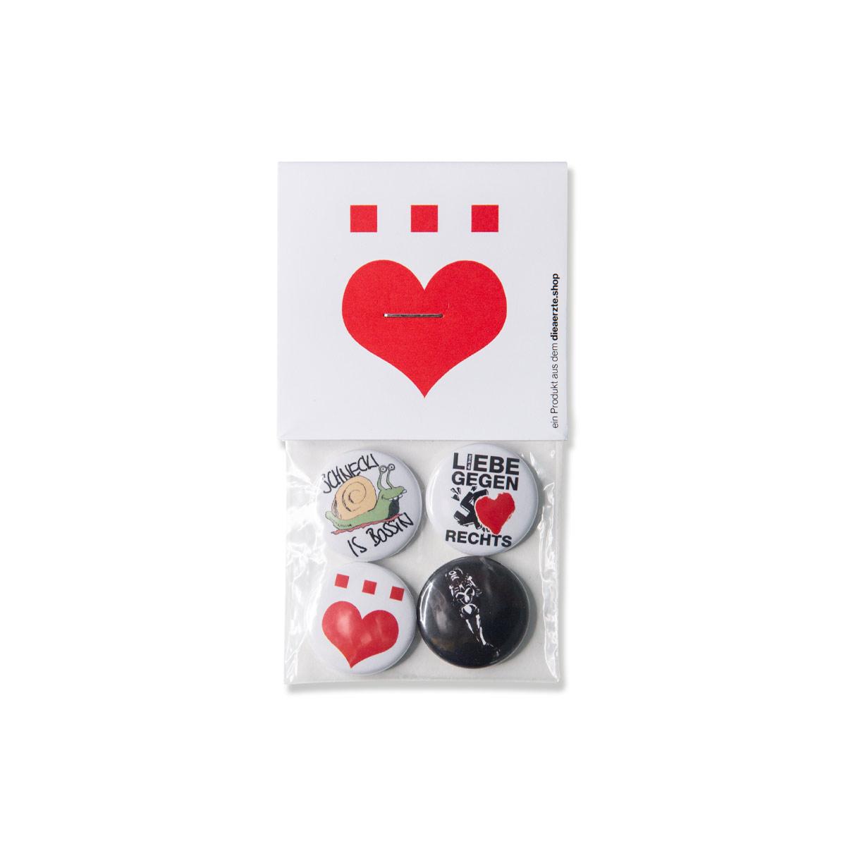 Schnecki | Button-4er-Set