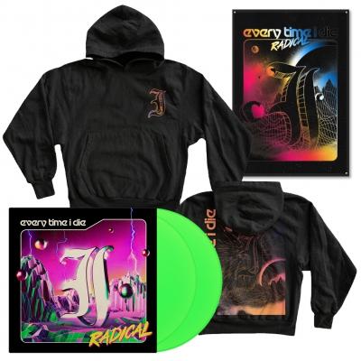 Radical | Neon Green LP+Hoodie+Flag Bundle