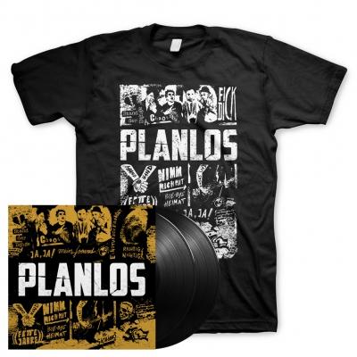 Planlos | Signed 2xBlack Vinyl+T-Shirt Bundle