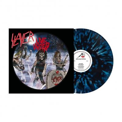 Live Undead | Blue/White&Black Splatter Vinyl
