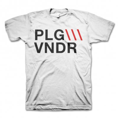 Plague Vendor - PLG\\\VNDR Tee (White)