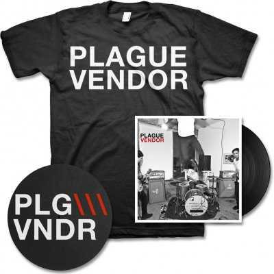 plague-vendor - Free To Eat - LP (45 RPM), Slipmat & Band Name Tee