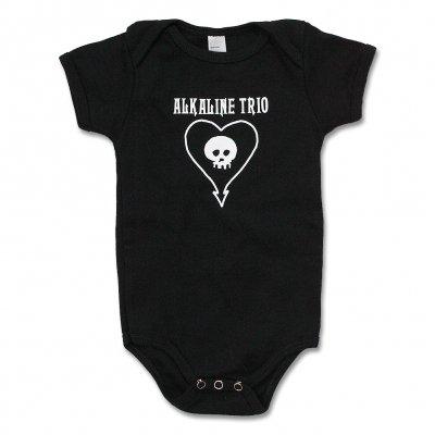 alkaline-trio - Heart Skull Onesie