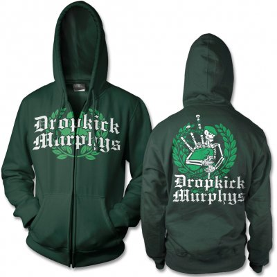dropkick-murphys - Piper Zip-Up Hoodie (Green)