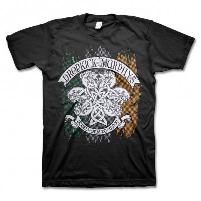 dropkick-murphys - Knotwork Flag Tee (Black)