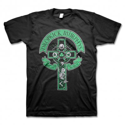 Dropkick Murphys - Drinking Skeleton Cross Tee - Mens